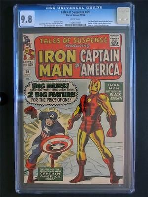 Tales of Suspense 59 MARVEL 64 MINT CGC 98 NMMT  1st Solo Captain America