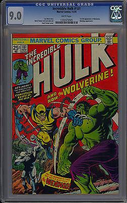 Incredible Hulk 181 CGC 90 High Grade 1st App Wolverine Marvel Comics 1974