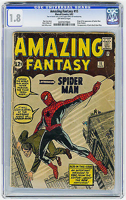 Amazing Fantasy 15 CGC 18 OW MEGA KEY Origin  1st app SpiderMan Ditko Marvel
