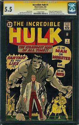 Incredible Hulk 1 CGC FN 55 signed by Stan Lee