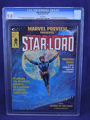 Marvel Preview 4 Presents STARLORD 1st Appearance 98 CGC 1976 White Pages