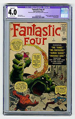 Fantastic Four 1 CGC 40 OW KEY Origin  1st Mole Man Kirby Lee Marvel Silver