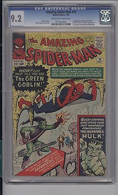 AMAZING SPIDERMAN 14  CGC 92  NM  1ST GREEN GOBLIN  MEGA KEY