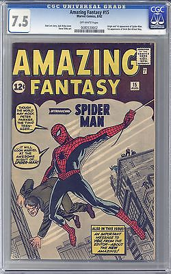 Amazing Fantasy 15  CGC 75  OffWhite Pages