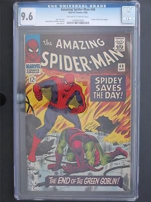 Amazing SpiderMan 40 MARVEL 1966  CGC 96 NM ORIGIN of The Green Goblin