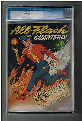 ALLFLASH 1 CGC Grade 70 First solo Gold Age 1941 Flash title from DC