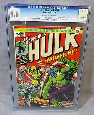 THE INCREDIBLE HULK 181 Wolverine 1st app CGC 96 NM Marvel Comics 1974