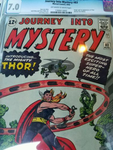 Journey into Mystery 83 graded cgc 70 classic Jack Kirby cover 1st THOR app