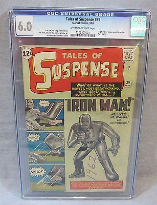 TALES OF SUSPENSE 39 Iron Man 1st app  origin CGC 60 FN Marvel Comics 1963