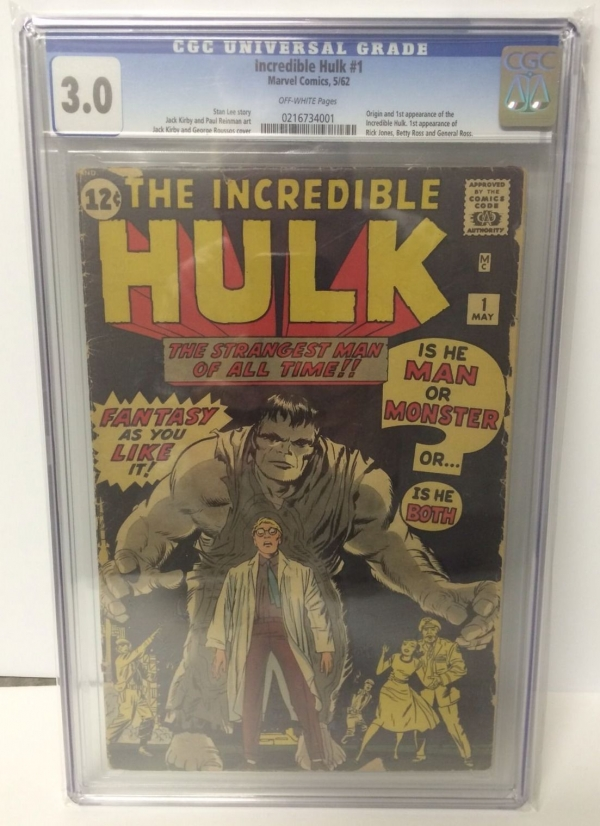 Incredible Hulk 1 CGC 30 OFFWHITE Pages