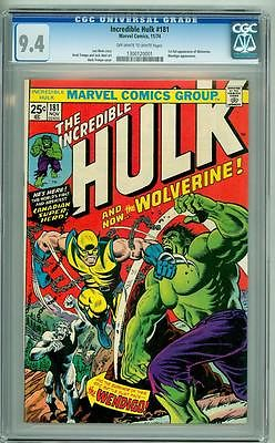 INCREDIBLE HULK 181 CGC 94 FIRST WOLVERINE 1974 UNRESTORED