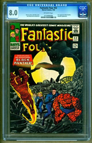 Fantastic Four 52 1966 Marvel Comics 1st appearance of Black Panther CGC 80