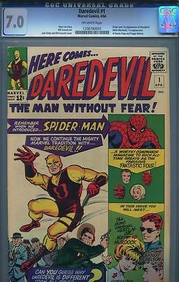 DAREDEVIL 1  CGC 70 OFFWHITE PAGES  ORIGINAL OWNER 1ST TIME OFFERING  1964