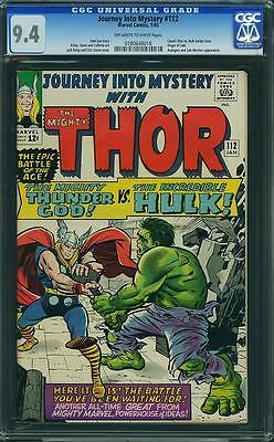 Journey Into Mystery 112 CGC 94 NM Thor Hulk Battle Classic Cover