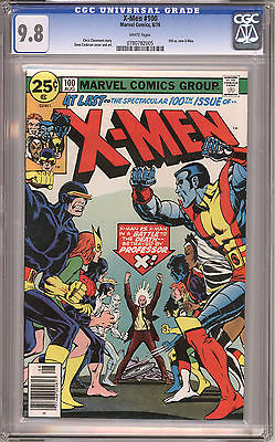 Uncanny XMen 100 CGC 98 White Pages Aug 1976 Marvel
