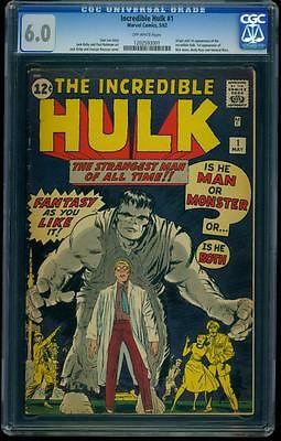 Incredible Hulk 1 CGC 60 OW Silver Age Key Marvel Comic Hi Grade Grail LK