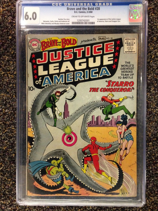 THE BRAVE AND THE BOLD 1960 28 CGC 60 FN 1ST APPEARANCE OF JUSTICE LEAGUE