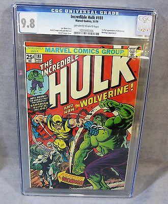 THE INCREDIBLE HULK 181 Wolverine 1st app CGC 98 NMMT Marvel Comics 1974