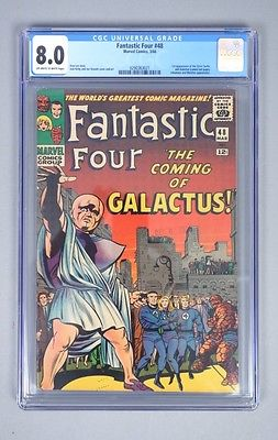 Vintage 1966 Marvel Comics Fantastic Four 48 CGC Graded 80 Silver Age Comic