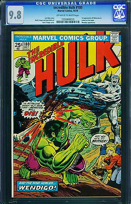 INCREDIBLE HULK 180 CGC 98  19741st WOLVERINEBRONZE KEYMARVEL