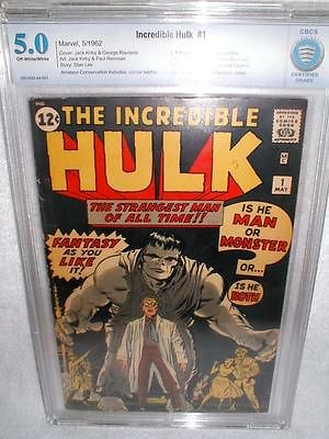 INCREDIBLE HULK 1CBCS 50 OWWHITE PAGES LIKE CGC