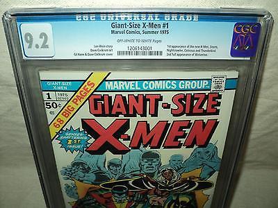 GiantSize XMen 1 CGC 92 OWW p 2nd Full Wolverine 1st New XMen id 15267