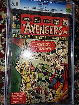 Marvel Avengers 1 CGC 60 OW Hulk Iron Man Thor AntMan Loki Wasp