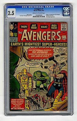 Avengers 1 CGC 25 Origin  1st Iron Man Thor Hulk Marvel Silver Age Comic