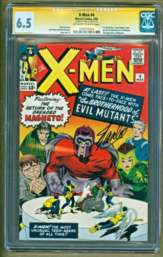 XMen 4 1964 Marvel 1st app Quicksilver Scarlet Witch SIGNED CGC 65 NO RESERVE