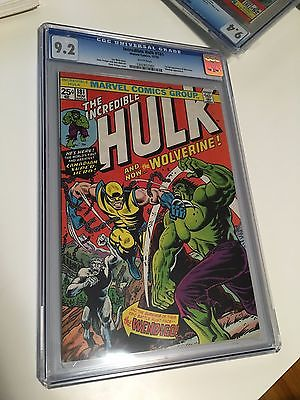 Incredible Hulk 181 CGC 92 WHITE PAGES WP 1st Appearance of Wolverine  WOW