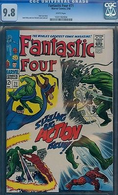 Fantastic Four 71 CGC 98 W Jack Kirby 1967 Stan Lee RARE BEST CERTIFIED NMMINT