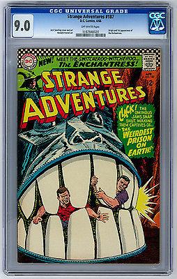 Strange Adventures 187 1966 CGC 90 1st app Enchantress Suicide Squad 1 of 7