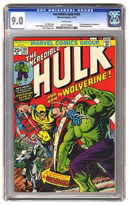 Incredible Hulk 181 CGC 90 1st appearance of Wolverine Near MintVF