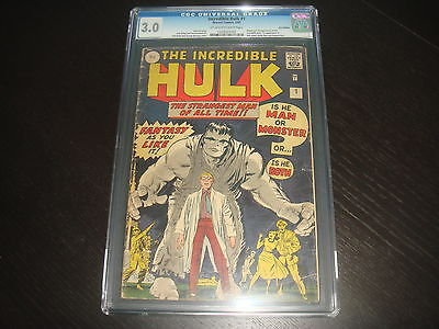 INCREDIBLE HULK 1 OffWhite to White Pages UK Edit Marvel Comics 1962   CGC 30