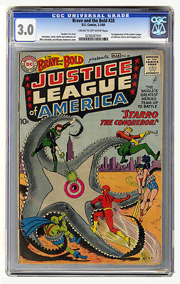 Brave and the Bold 28 1960CGC 30 1st JUSTICE LEAGUE OF AMERICA