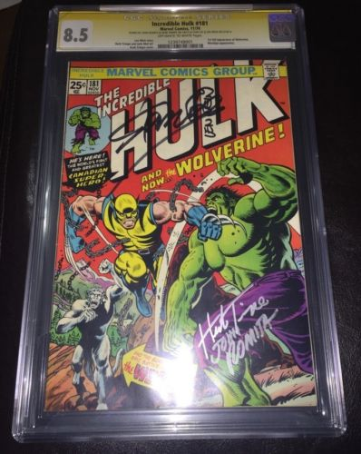 INCREDIBLE HULK 181 CGC 85 Signed WEINTRIMPEROMITALEE 1st WOLVERINE