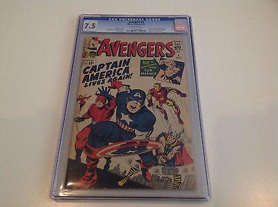 AVENGERS 4 CGC 75 Silverage Captain America