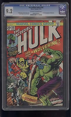 HULK 181 CGC 92 1st FULL APPEARANCE of WOLVERINE 1974 GRAIL BOOK  COMIC KINGS