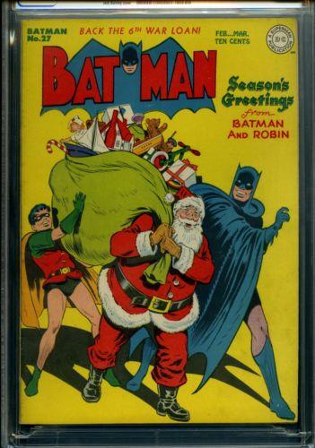 BATMAN 27  CGC  Classic Christmas cover  High grade