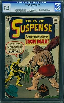 TALES OF SUSPENSE 40 CGC 75  OW PAGES  2ND IRON MAN
