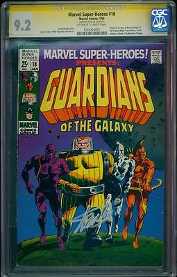 Marvel Superheroes 18 CGC 92 Signed Stan Lee 1st Guardians of the Galaxy LK
