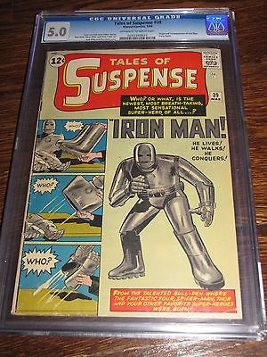 TALES OF SUSPENSE 39 First Iron Man Appearance CGC Universal Grade 50 Comic