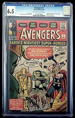 AVENGERS 1 CGC 65 Origin 1st appearance the Avengers FREE SHIPPING civil war