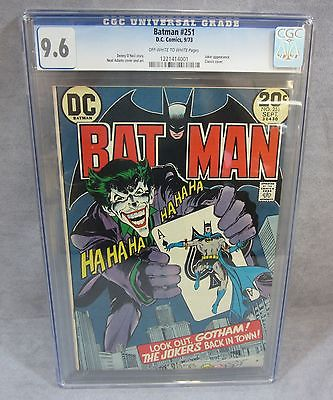 BATMAN 251 Neal Adams Classic Joker Cover DC Comics 1973 CGC 96 NM