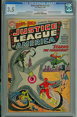 Brave and the Bold 28 CGC 35 Blue Label CrmOW 1st Justice League of America