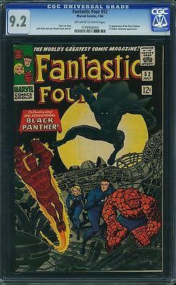 Fantastic Four 52 Jul 1966 Marvel  CGC 92  First Black Panther