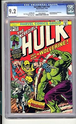 INCREDIBLE HULK 181 CGC 92 First full Wolverine Great copy  lk
