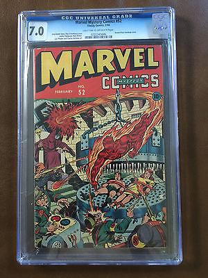 Marvel Mystery Comics 52 CGC 70 Feb 1944 Hooded Nazi Bondage  Torture Cover