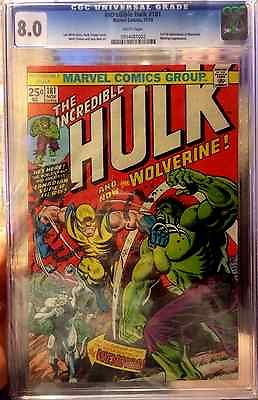 MARVEL INCREDIBLE HULK  181 CGC 80 FIRST APPEARANCE OF WOLVERINE