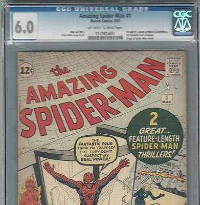 PRIMO  Amazing SPIDERMAN 1 FN 60 CGC OWW  UNRESTORED Ditko Lee Marvel comic